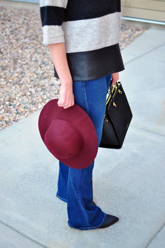 denim, denim flares, Frame Denim, floppy hat, Ted Baker, spring style 2